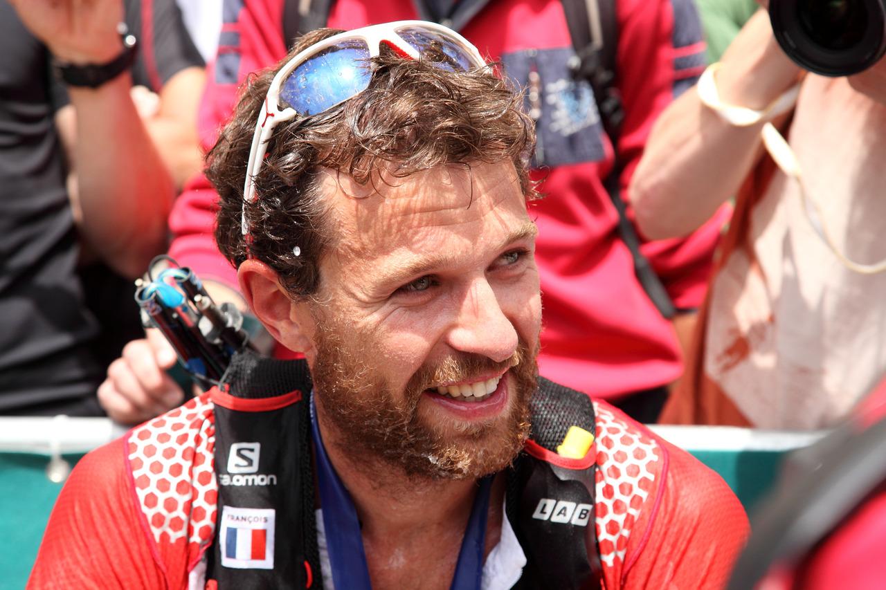 François D'Haene sur le 80km du Mont-Blanc en 2014