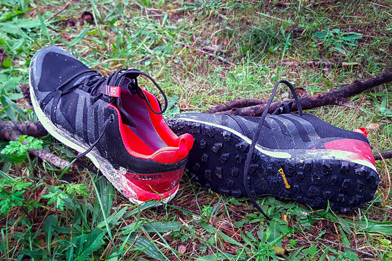 Adidas Agravic GTX après une sortie boueuse
