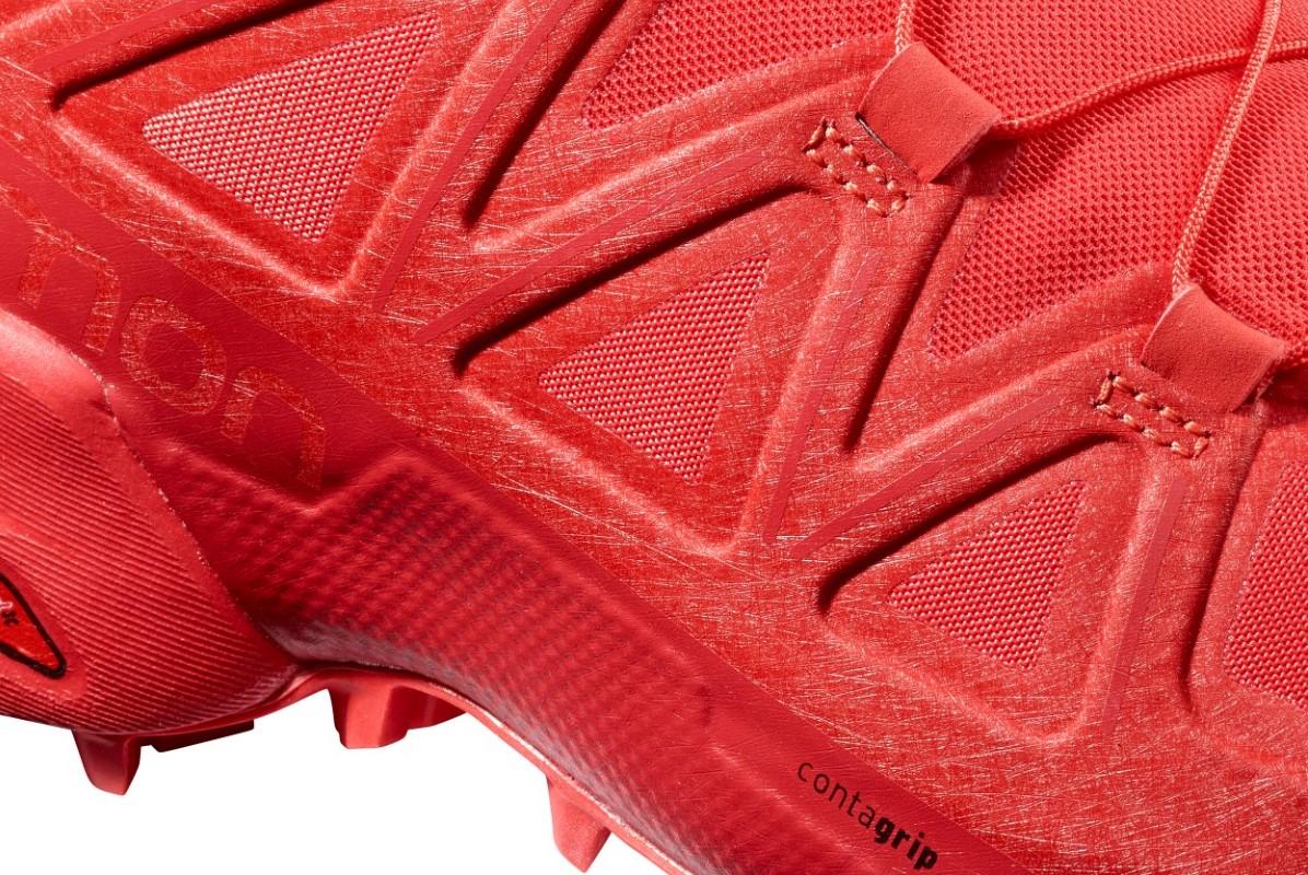 Vue du mesh de la Speedcross5 rouge