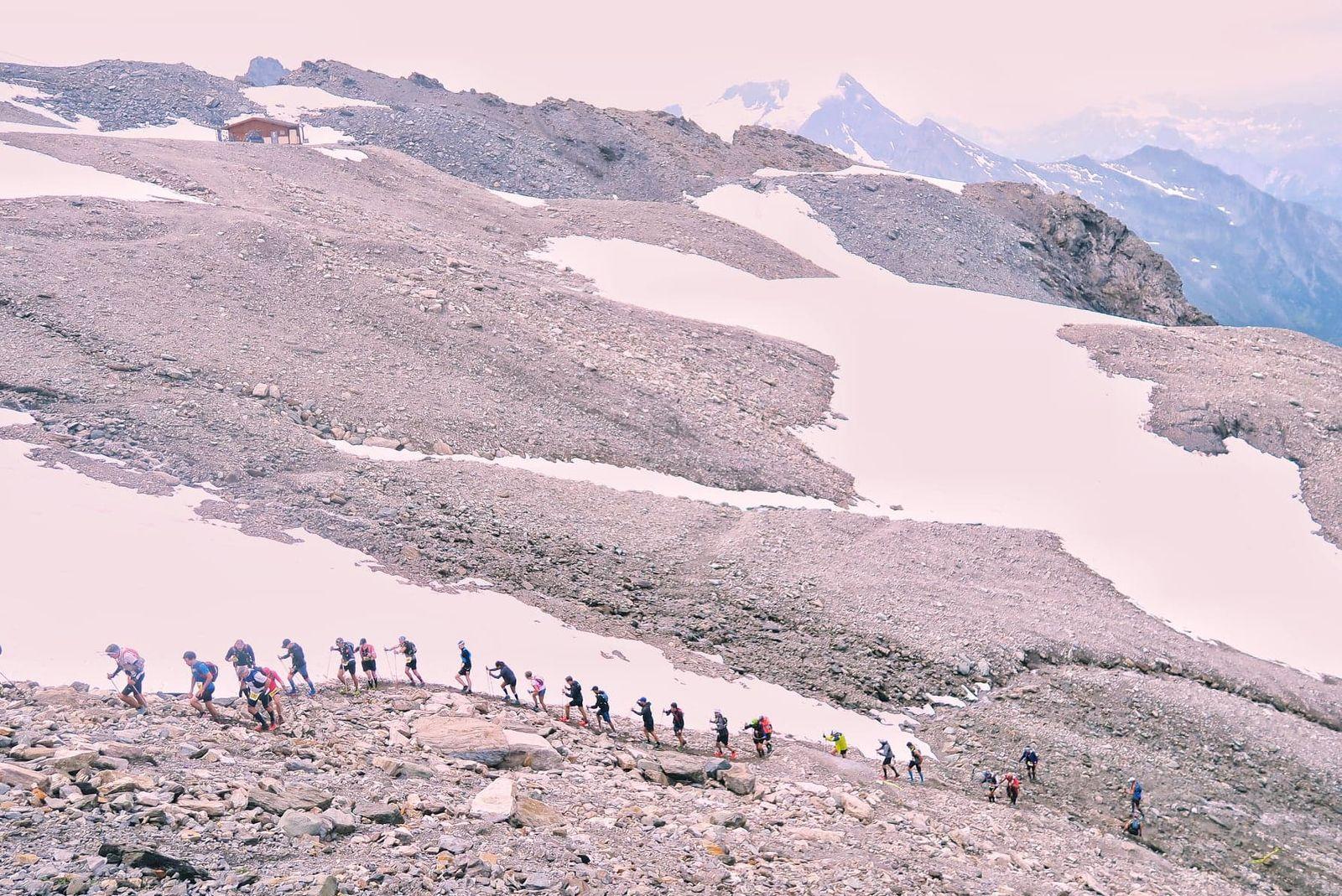 La fin de la montée sur le glacier