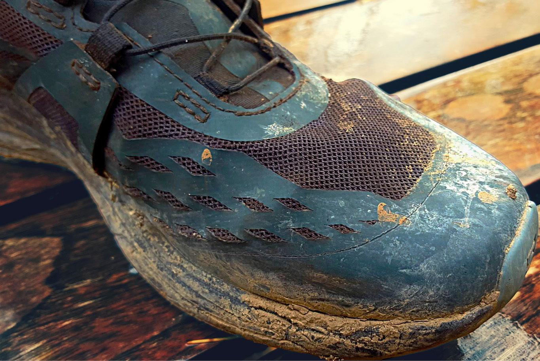 Mesh boueux de la chaussure Salomon Ultra Pro