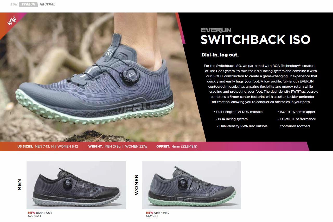 Fiche produit des Saucony Switchback ISO
