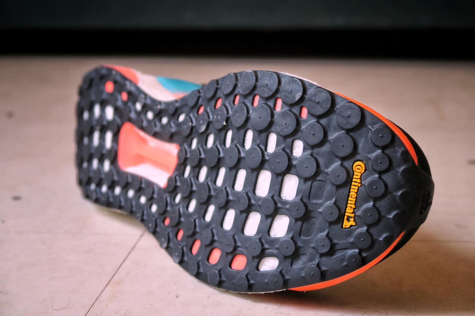 La semelle Continentale de l'Adidas Solar boost