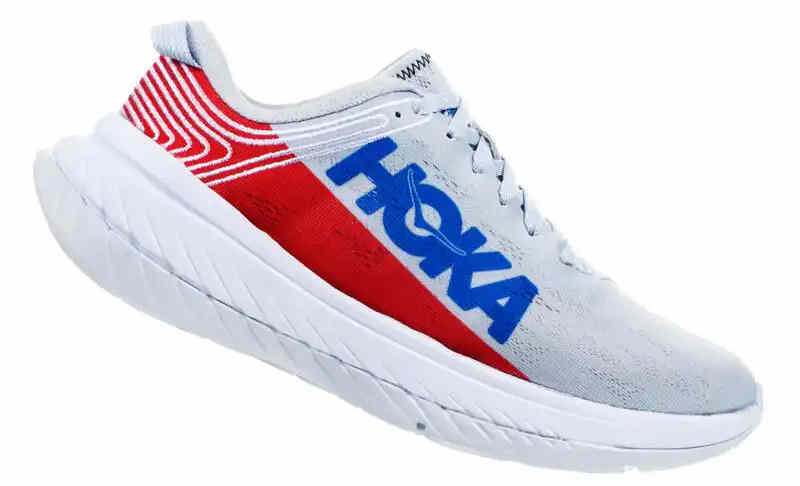 Hoka Carbon X en bleu blanc rouge