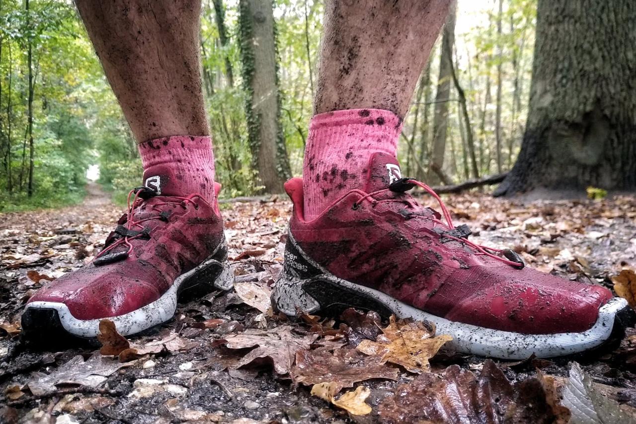 Test des Salomon SuperCross en forêt de Meudon