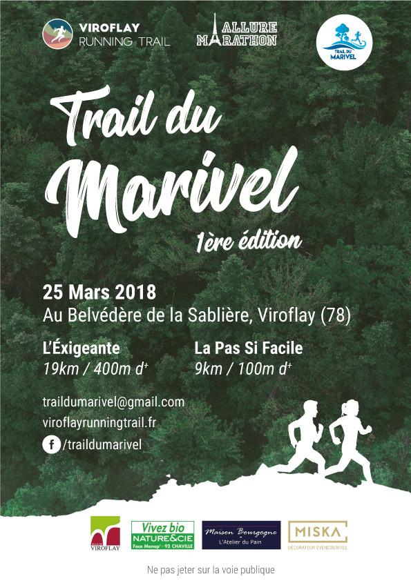 L'affiche collector de la première édition du Trail du Marivel